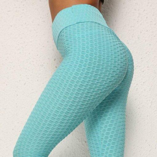 Legging Anti Cellulite Texture Collant Turquoise S Turquoise M Turquoise L Turquoise XL