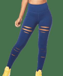 legging danse bleu funky