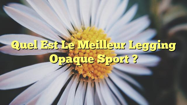Quel Est Le Meilleur Legging Opaque Sport ?