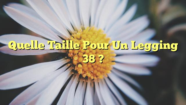 Quelle Taille Pour Un Legging 38 ?